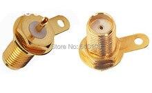 50 unids/lote SMA hembra sesgo plug PCB montaje en Panel soldadura adaptador de conector