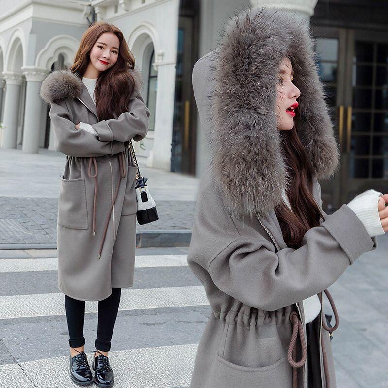 Autumn And Winter Windbreakers Harajuku   Trench   Coat For Women Hooded Women's Coats Casual Coat Casaco Feminino Raincoat