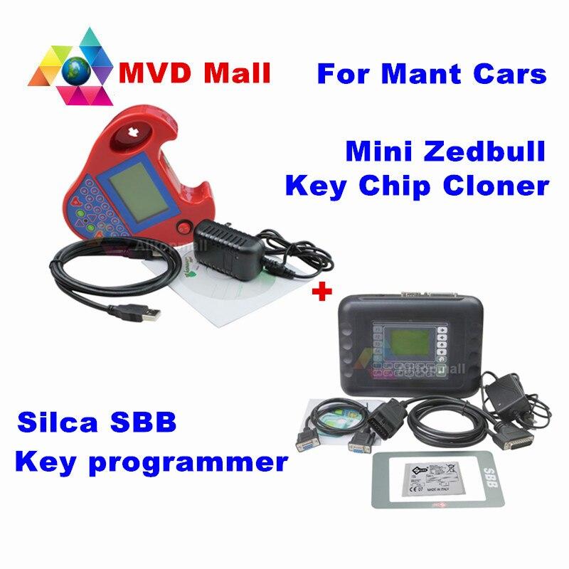 Prix pour Meilleur Match Silca CFF Programmeur principal V33.02 + Smart Mini Zed-bull V508 Zedbull Transpondeur Clé Puce Cloner Pour Mutl-Voitures Pas jeton