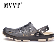 2019 New Summer Jelly Shoes Men Beach Sandals Hollow Slippers Men Flip Flops Light Sandalias Outdoor Summer Chanclas