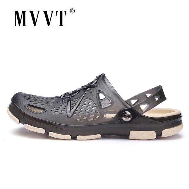 2019 New Summer Jelly Shoes Men Beach Sandals Hollow Slippers Men Flip Flops Light Sandalias Outdoor Summer Chanclas