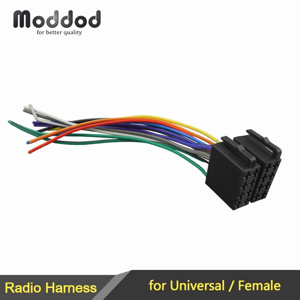 universal female iso wiring harness car stereo adapter connector radio wire connecter adaptor plug kit [ 1000 x 1000 Pixel ]