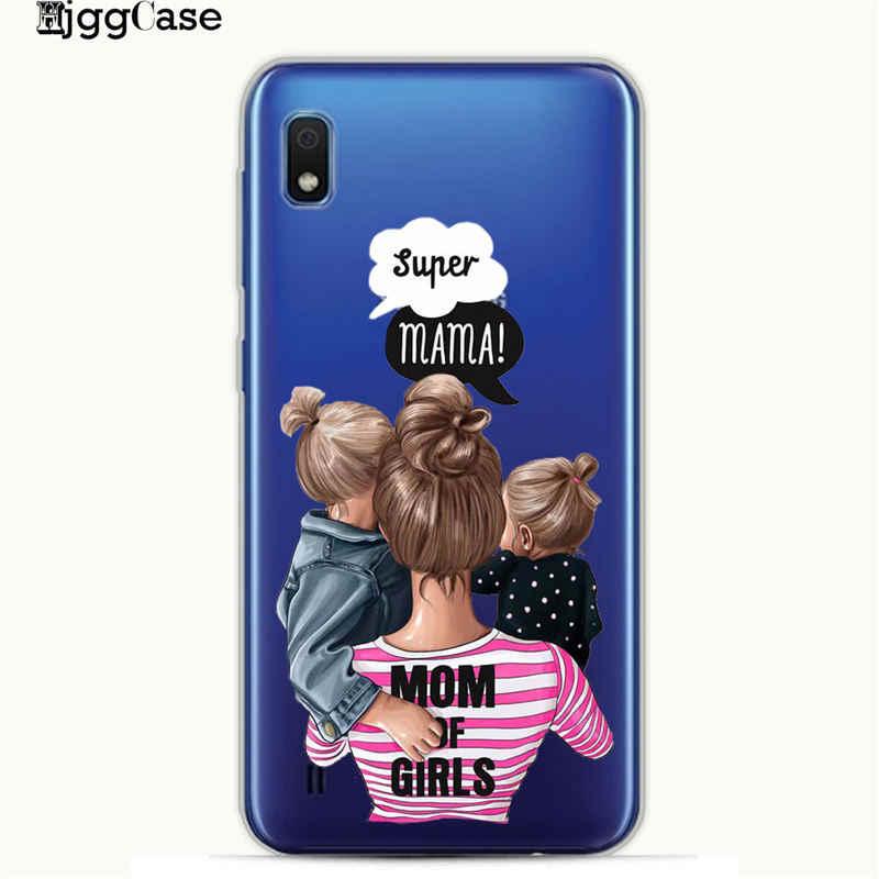 VOGUE Bonito mãe do bebê Rainha menina Caixa Do Telefone Para Coque Samsung Galaxy A10 A20 A30 A40 A50 A70 A7 A6 a8 2018 Capa de Silicone TPU Macio