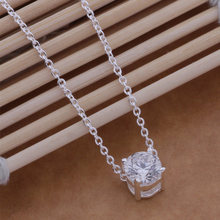 AN586 Hot 925 sterling silver Kalung 925 perak fashion perhiasan liontin Transparan batu/gymappta bcyajufa(China)