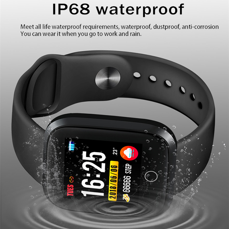 Image 2 - LIGE Smart Bracelet Men Fitness Tracking Blood Pressure Heart Rate Monitor Pedometer IP68 Waterproof Sport Smart Wristband +Box-in Smart Wristbands from Consumer Electronics