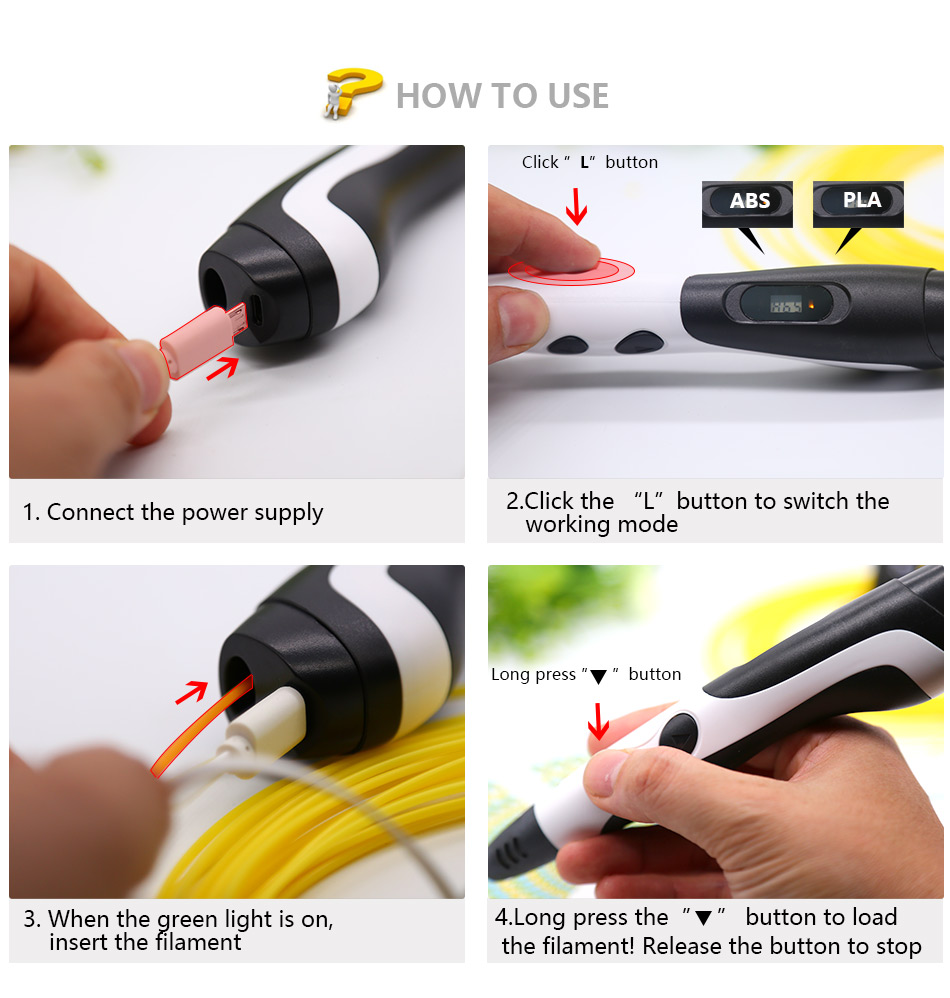 3d Printing Pen With USB Adapter And ABS Filament For Christmas Gifts