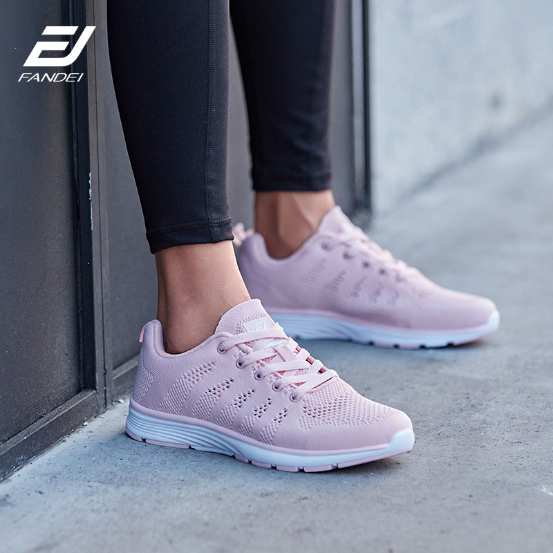 FANDEI Women Running Shoes Sneakers Breathable Mesh Soft Light Weight sneaker Woman Sport Shoes For Female Walking Jogging Shoes цены онлайн