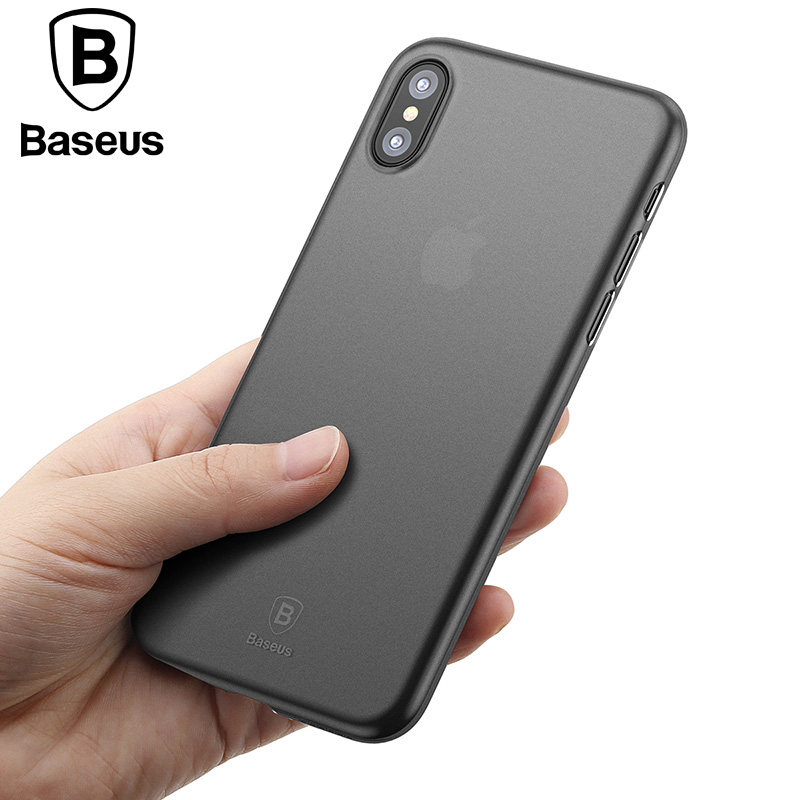 Baseus Luxury For iPhone X Phone Case Ultra Thin Slim PP Frosted For Apple iPhone X Case For iPhoneX Back Cover Protective Shell