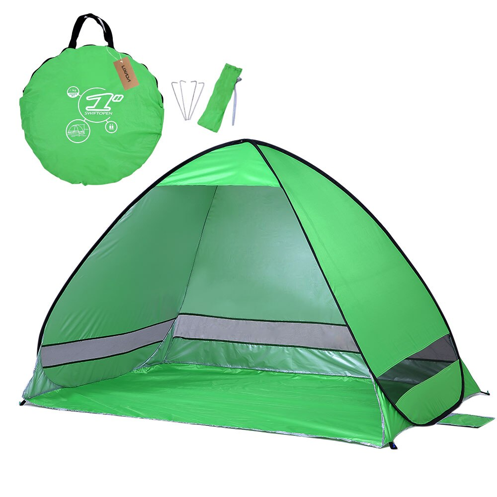 #Lixada Durable Lightweight Tent Waterproof Instant Pop Up Beach Tent UV Protection Sun Shelter Tent Sunshade Canopy for Outdoor