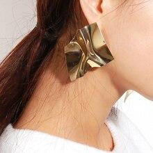 Fashion Stud Earrings 2019 Big Geometric Earrings for Women Bold Statement Earrings 2019 Modern Art Party Punk Earring Jewelry