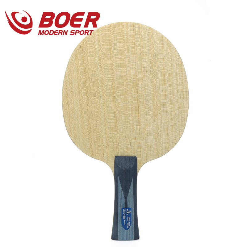 Boer ALC 5 Layers Wood With 2 Layers Arylate Carbon Fiber Table Tennis Blade Long Handle  Short Handle Can Choose Ping Ping Pat