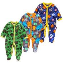 Купить с кэшбэком Baby clothes unicorn fleece bebes jumpsuit winter pajamas infants baby boys clothing toddler baby girl rompers high collar 3-12M