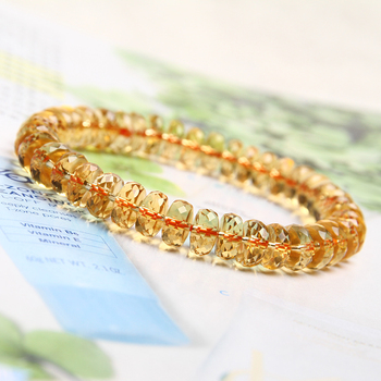 free shipping  Genuine Natural Citrine Quartz Crystal Marquise Beads Bracelet 7mm AAAA