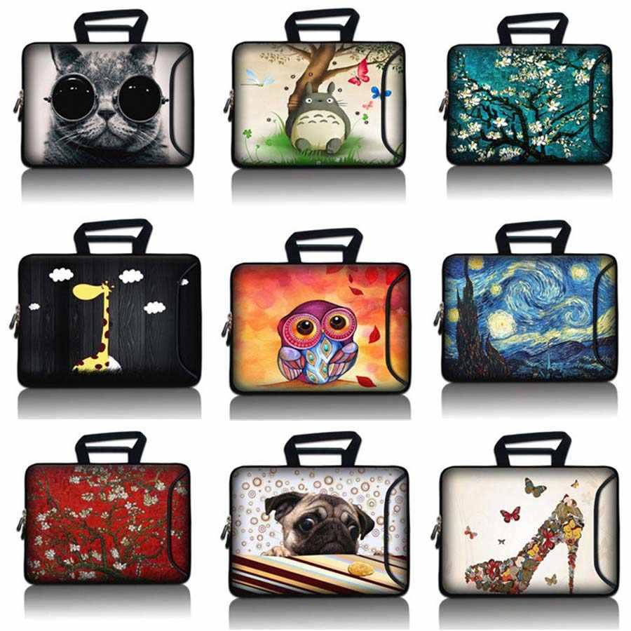 10 12 13 14 15 17 Laptop Sleeve Case PC Lembut Tas 10.1 11.6 13.3 15.4 15.6 17.3 Tas Komputer notebook Pelindung SBP-hot17
