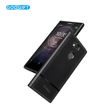 Litchi Leather Pattern Phone Case For Sony Xperia L2 case Slim Silicone Anti-knock Cover For Sony Xperia L 2 Case