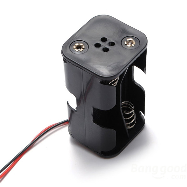 Battery Box Of Receiver Holder Case 4 AA RC Model 6v Servo Plug For RC Helicopter Parts Accs