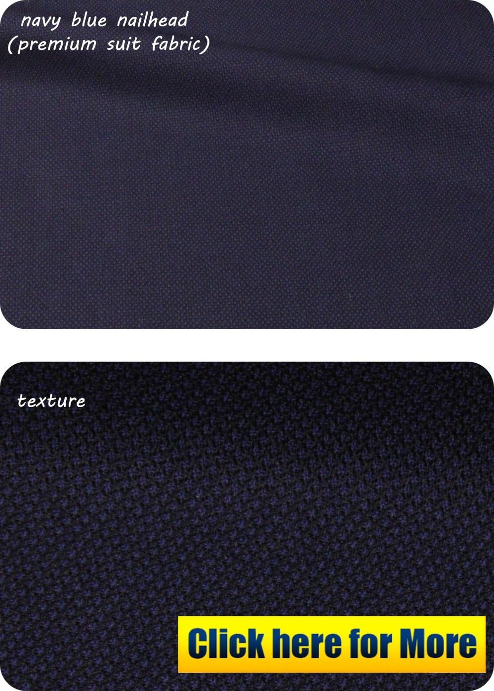 navy blue nailhead premium suit fabric_1