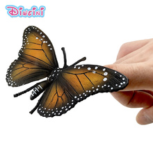 Mini cute Butterfly figure Simulation animal model insect figurine home decor decoration accessories statue Toys Gift For Kids plastic simulation insect model decoration figurine toys gift stag spider ladybird beetle butterfly figure toys for kids