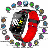 Binssaw New Smart Watch Men Women Heart Rate Monitor Blood Pressure Fitness Tracker Smartwatch Sport Watch for ios android +BOX