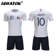 f17b5b544 Soccer Jersey France Men Football Sets Adults Soccer Shirts Top Quality  MBAPPE GRIEZMANN POGBA 2 Stars