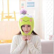 WYZHY  New frog hooded hat to keep warm plush toy doll send childrens gifts