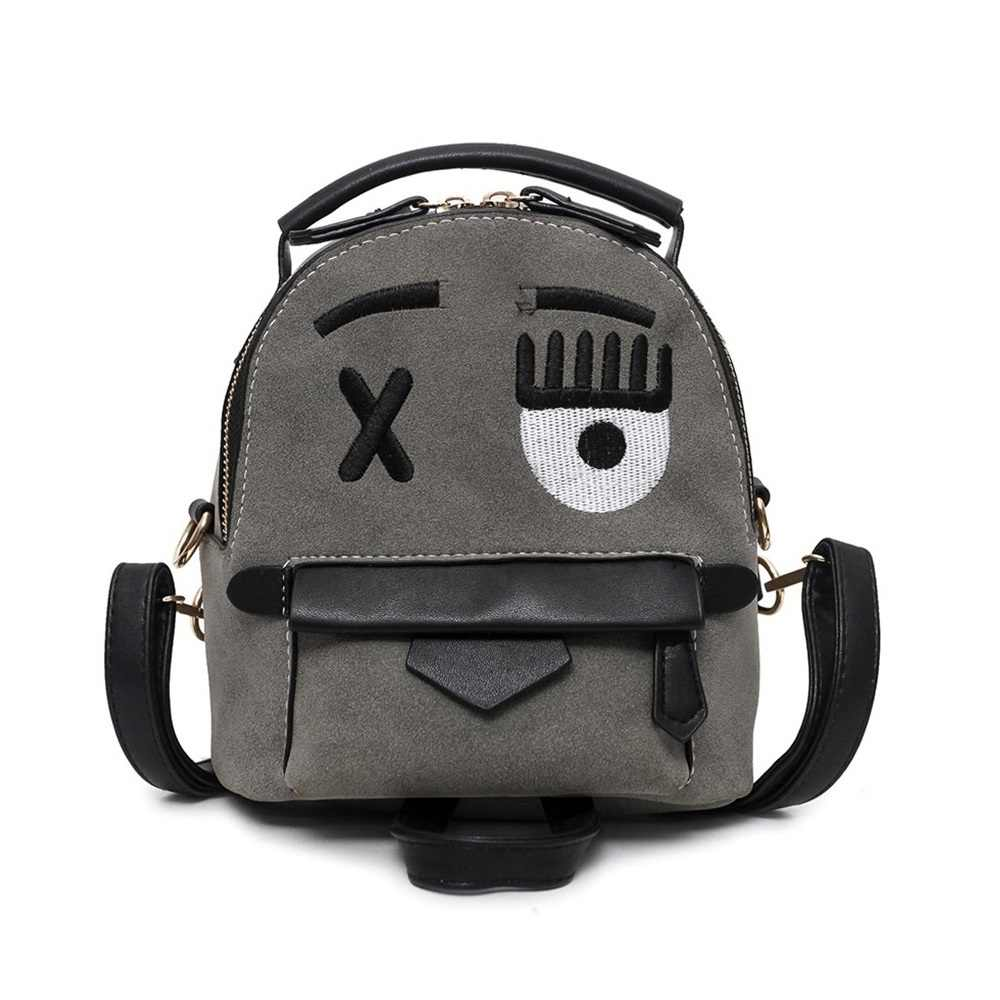 c142b4701e Cute Blink Eyes Pattern Backpack Girl Scrub Leather Retro Shoulder Backpack  High Quality Kid Daily Schoolbags
