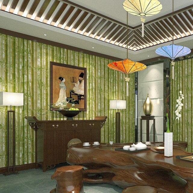 Aliexpress.com : Chinesische Simulation Bambus Tapeten Vinyl Grün ...