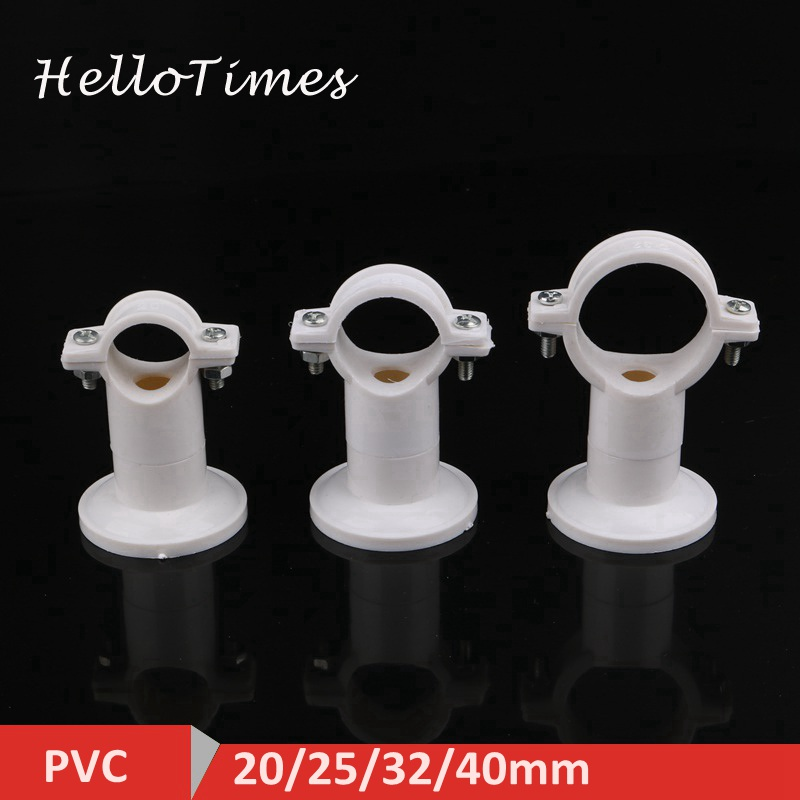 4pcs 20mm 25mm 32mm 40mm PVC Pipe Clamp Support Bracket Water Pipe Connector Garden Irrigation System Fittings PPR Pipe Clip image