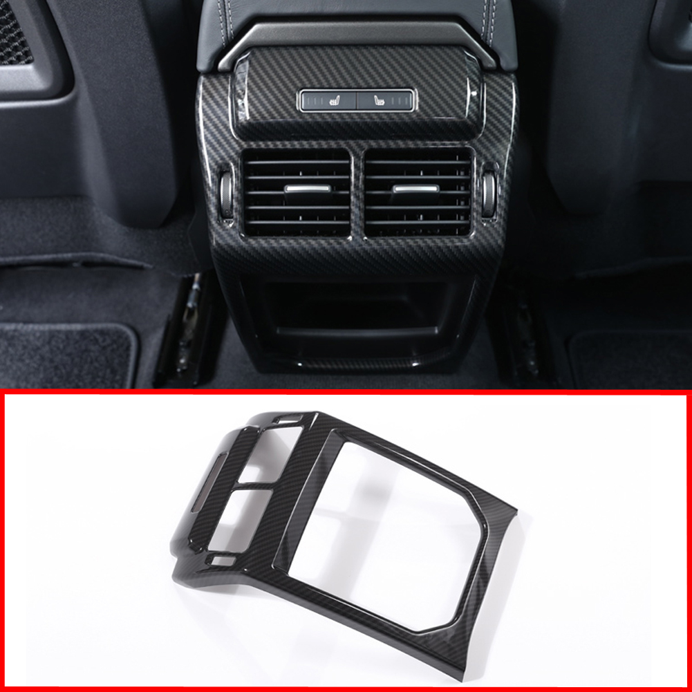 Carbon Fiber Style Car Accessories Rear Air Outlet Vent Protection Frame Cover Trim for Land Rover Range Rover Evoque 2014 2018
