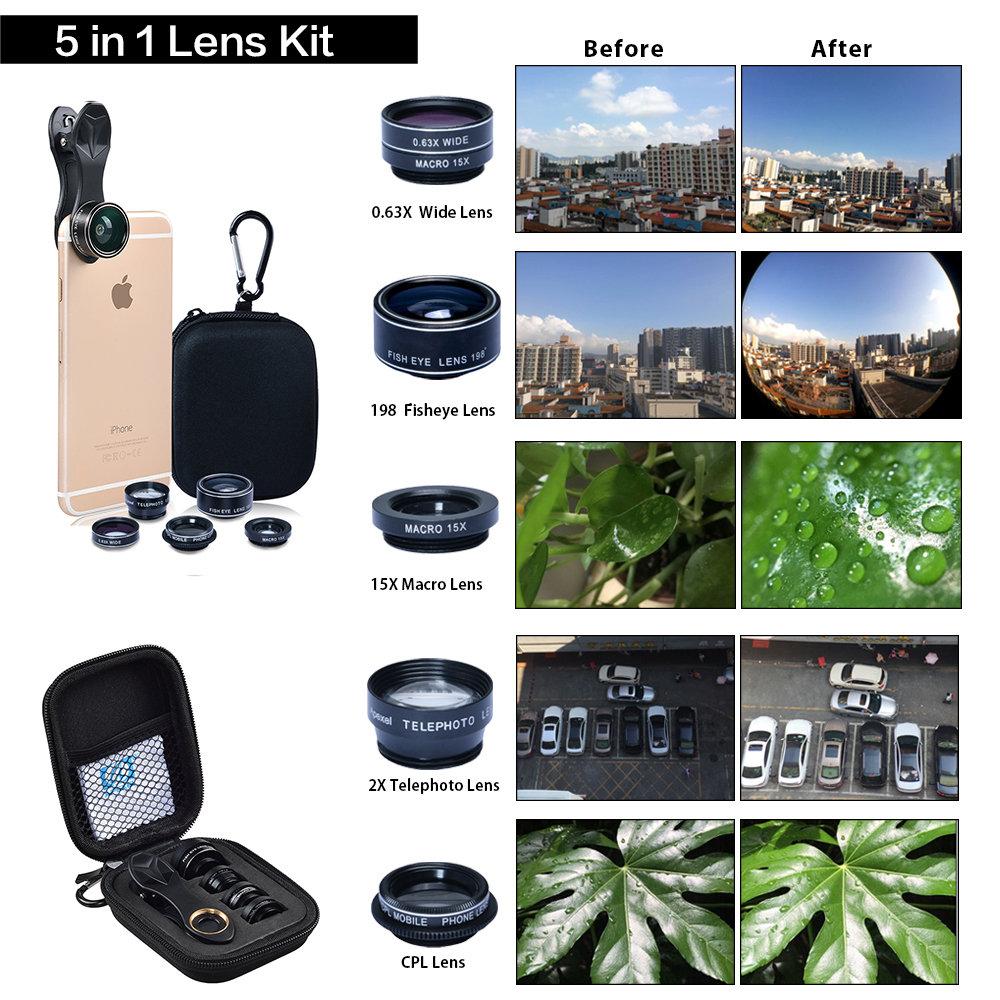 5 in 1 lens kit
