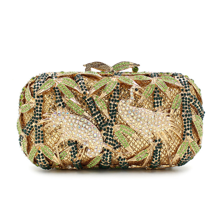 BL030 Luxury diamante evening bags octagon colorful clutch bags women party purse bags crystal sacoche pochette handbags