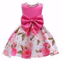 2014 New Frozen Girls Dress ELSA ANNA Princess Long Sleeve Dress 100 Cotton Dress Girl Print
