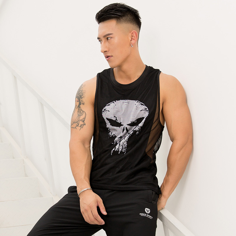 Bodybuilding Tank Tops Men Gym Workout Fitness sleeveless shirt Male Summer mesh Undershirt Casual Singlet Vest Brand Clothing