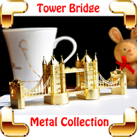 New Year Gift London Tower Bridge 3D Metal Building Toy Miniature Model Scale Decoration DIY Mini Bridge Space Toys Assembly