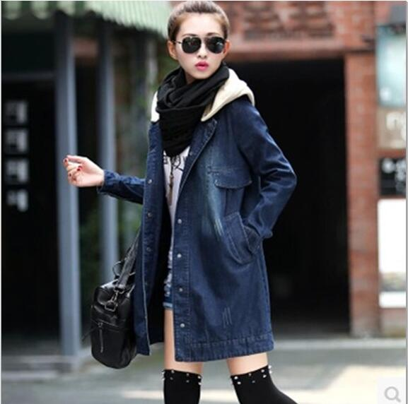 Autumn and winter new fashion maternity dress loose large size hooded detachable denim clothing coat pregnant women coat все цены