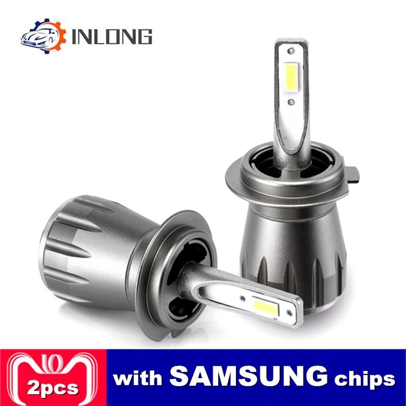 INLONG 2Pcs F6 SAMSUNG Chip H4 H7 Car LED Headlight Bulb H11 led lamp 9005 hb3 9006 hb4 H1 Super Bright Headlamp Fog Light 6000K