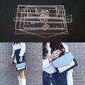 1 Набор DIY акриловый кожаный шаблон для дома ручная работа кожевенное ремесло шитье шаблон инструменты аксессуар сумка на плечо 220x150x80мм