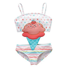 2019 Newborn Baby Girl Swimsuit Swimwear Bikini Children Kids Cute Cartoon Striped Patchwork 12M-8T