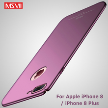 MSVII Cases For iPhone 8 Case Cover Luxury Matte Coque For iPhone 7 Plus Case 8Plus Hard PC Cover For Apple iPhone 8 Plus Cases cheap Fitted Case Slim Full Body Matte Hard PC Case Apple iPhones Plain Anti-knock MSVII 360 Full Protection Matte PC Series Top quality PC