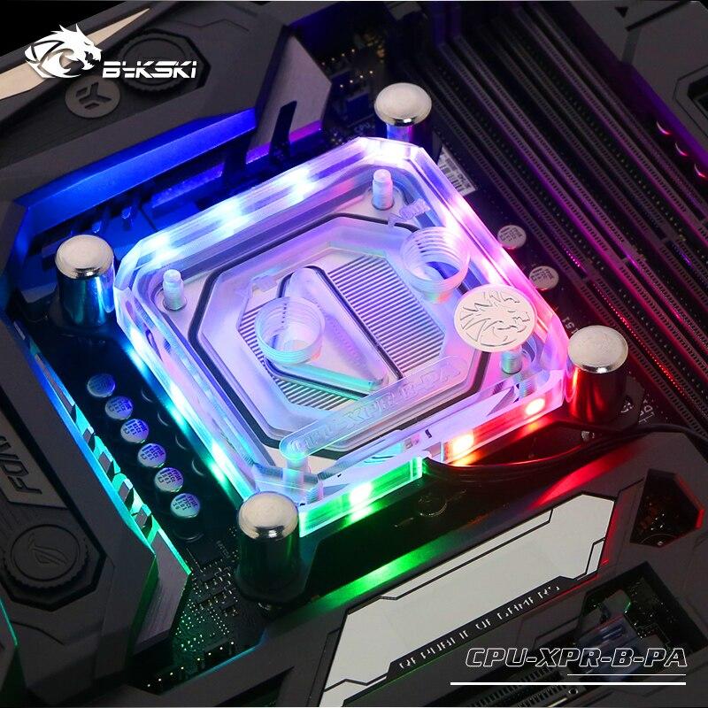 Bykski CPU bloc d'eau utilisation pour INTEL LGA1150 1151 1155 1156 2011X99 Transparent RGB support 5 V 3PIN GND en-tête à la carte mère