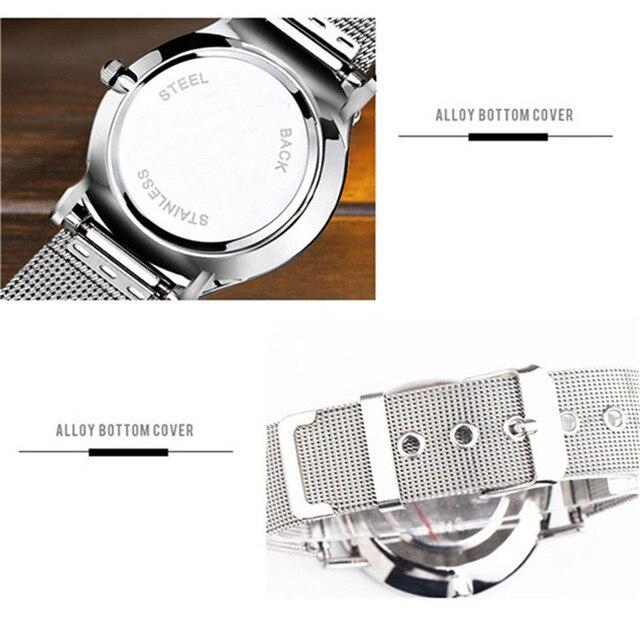 Women Men Luxury Stainless Steel Watches Crystal Analog Quartz Bracelet Wrist Watch Adjustable pin buckle fasteningdignity 7.24