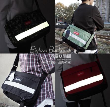 2015 New 3M reflective women messenger bag supreme shoulder bag unisex  laptop bag 181d67b5390ac