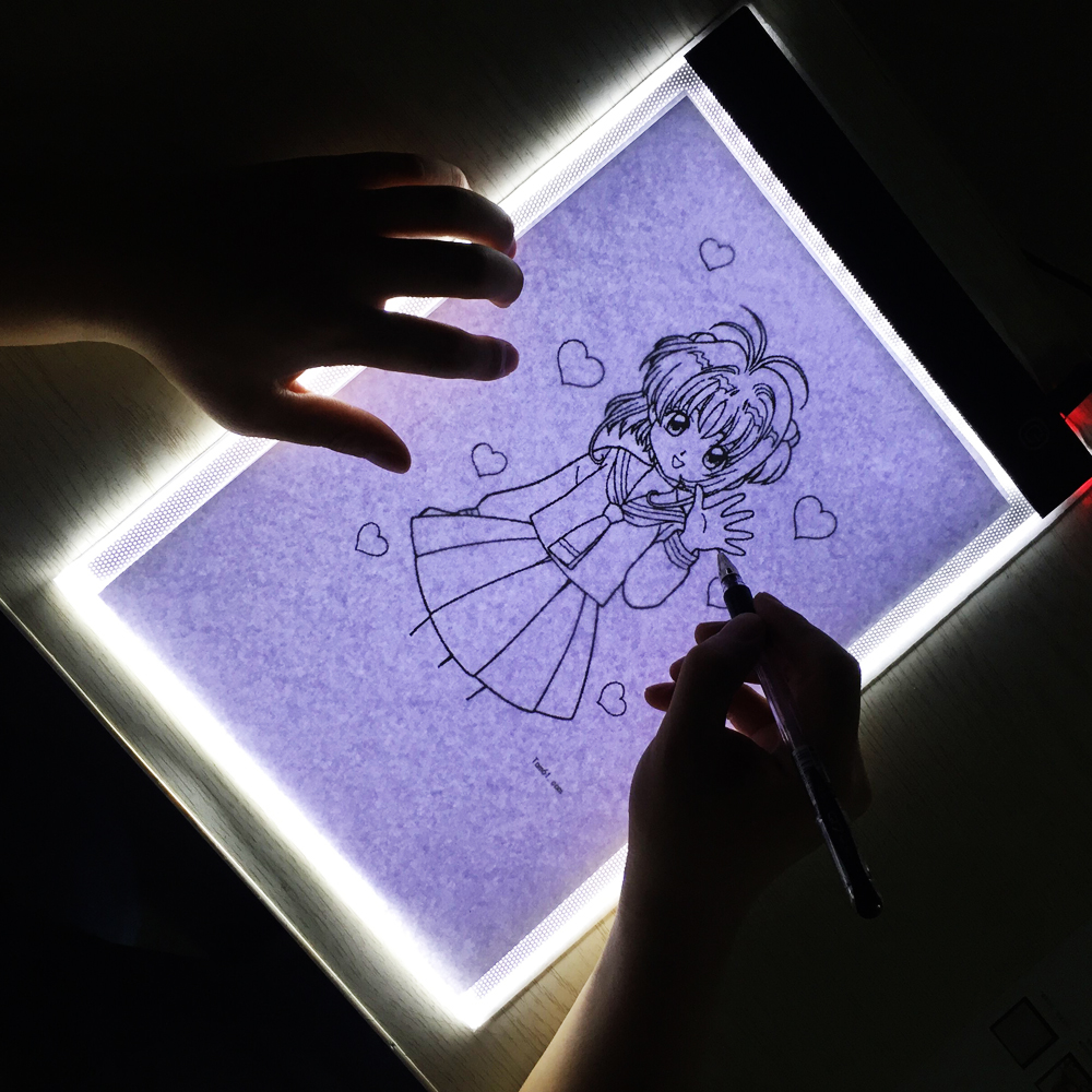 Portable LED A4 USB Night Lights Drawing Tracer Copy Board Artist Stencil Lamp Copy Tablet Digital Painting Pads LED Night Lamp