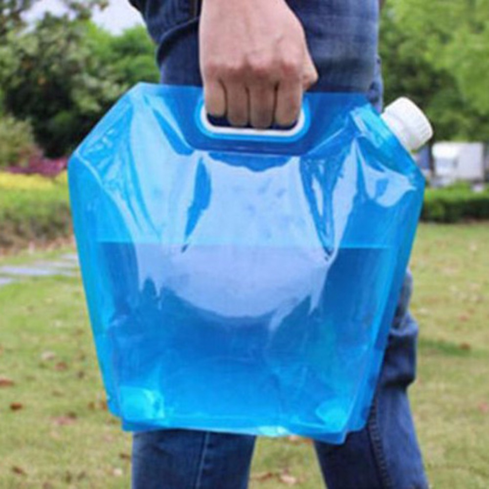 Outdoor Camping Hiking Picnic BBQ Portable Seal Foldable Collapsible 5L Folding Drinking Water Bag Storage Carrier Container Bag