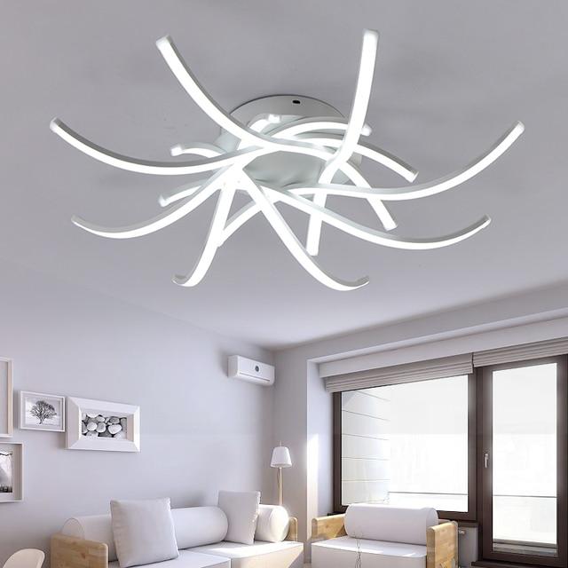 אדיר טבעות מעגל מודרני Led אורות תקרה לסלון חדר שינה אור קבועה LED אור MN-94