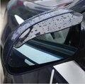 Горячая Низкая Цена Новый Смарт Гибкие Пластиковые автомобилей дождь щит зеркало Заднего вида Дождь Тень Гвардия Черный крышка наклейки
