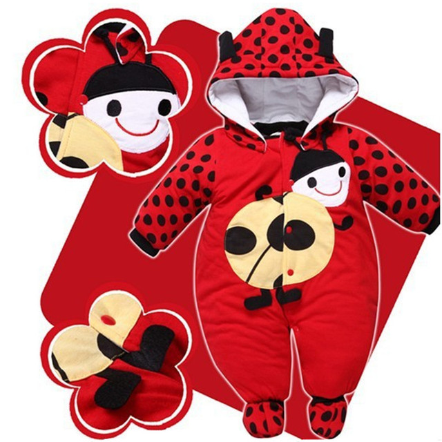 Baby winter jacket baby girl winter clothes Winter Boy Girl Hat Jumpsuit Shoes Set Newborn Layette Down Clothing Coat Parkas Rompers Baby Clothing