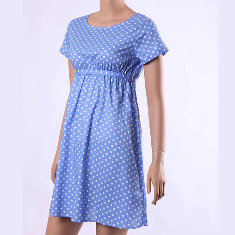 6369e811fa143 2015 Summer Style Princess Kate Middleton Wave Dot Blue Vestidos Women  Loose Dresses High Quality Comfortable Maternity Clothes-in Dresses from  Mother ...