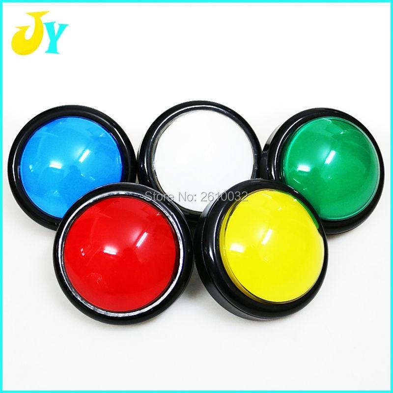 10 pcs 100mm Push Button Arcade Button Start button Led Micro Switch Momentary Illuminated 12v Power Button Switch(China)