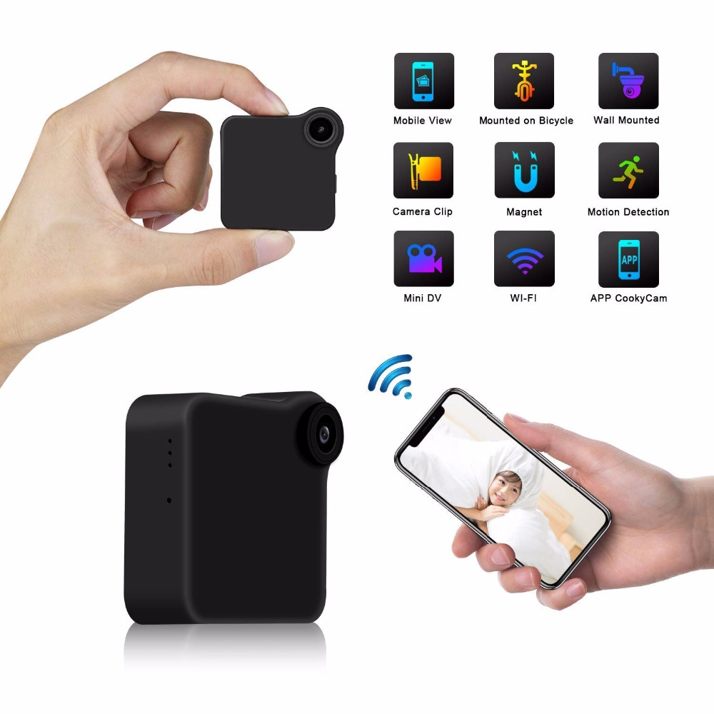 Mini Camera HD 720P IP WIFI P2P Wearable IP Camera Motion Sensor Micro Mini DV Magnetic Clip Voice Recorder Home Security camera c9 mini camera wifi ip with motion sensor 720p mini camera wifi hd night vision for iphone android video security magnetic clip